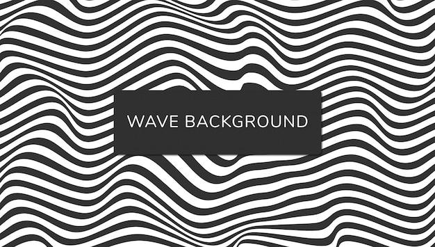 Abstract wave achtergrondontwerp