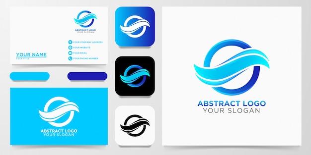 Abstract wave logo ontwerp Premium Vector