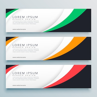 Abstract web banner of header design template