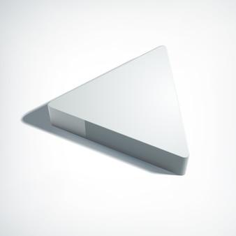 Abstract webontwerpconcept met 3d driehoek in perspectiefstijl op grijze illustratie
