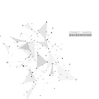 Abstract wetenschap netwerkconcept
