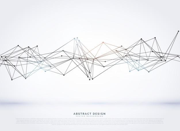 Abstract wireframe maas op een witte achtergrond