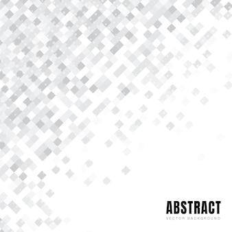 Abstract wit vierkanten diagonaal patroon