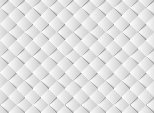 Abstract witboek gesneden vierkant patroon ontwerp.