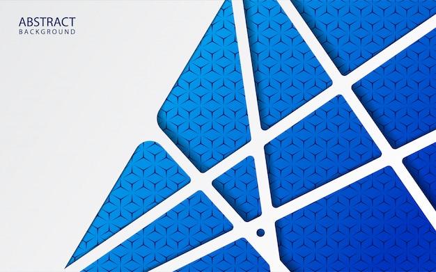 Abstract witboek op blauwe achtergrond