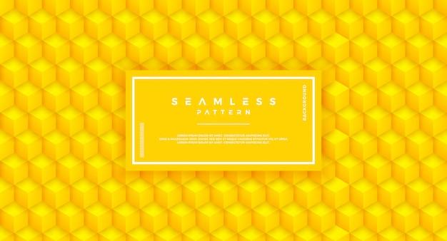 Abstract zeshoek geel naadloos patroon.