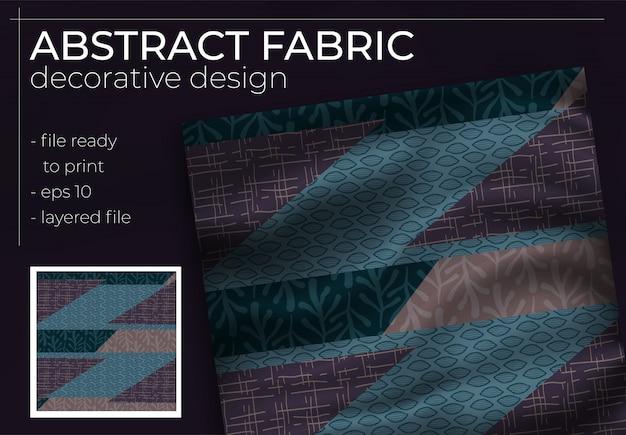 Abstract zijden sjaalontwerp in vierkant voor hijab-print, zijden halsdoek of hoofddoek, enz.