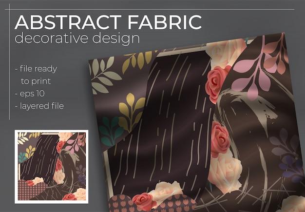Abstract zijden sjaalontwerp in vierkant voor hijab-print, zijden halsdoek of hoofddoek