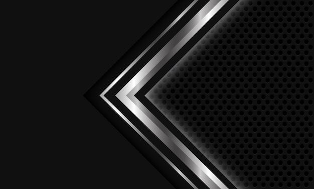 Abstract zilver grijs licht pijl cirkel mesh ontwerp moderne luxe futuristische technische achtergrond