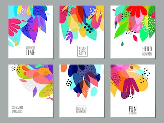 Abstract zomer advertentie banners collectie Poster