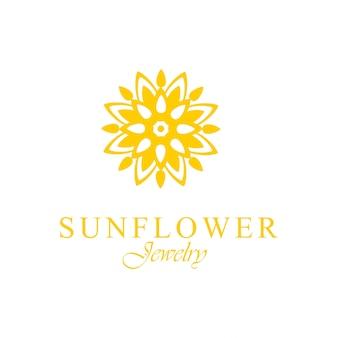 Abstract zonnebloem logo