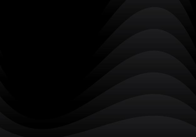 Abstract zwart gebogen overlappingslaagontwerp