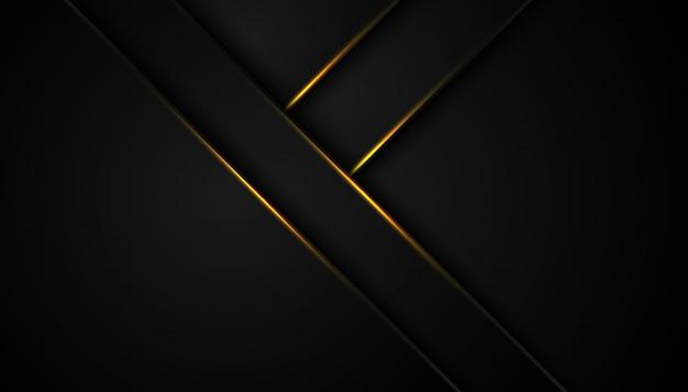 Abstract zwart goud frame sport concept innovatie