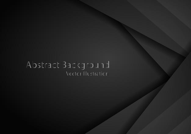 Abstract zwart met donkere kadersjabloon