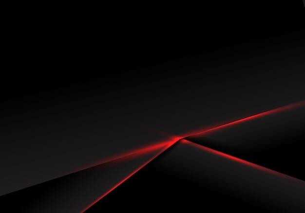 Abstract zwart metaal rood licht als achtergrond