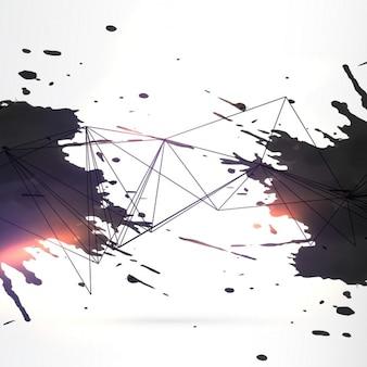 Abstract zwarte inkt grunge achtergrond
