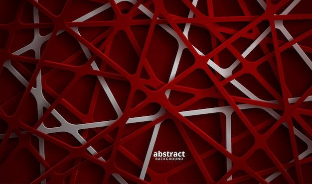 Abstracte 3d achtergrond met blauwe papercut. abstracte realistische papercut decoratie geweven