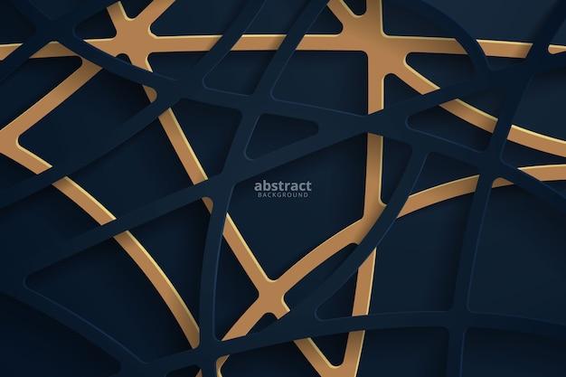 Abstracte 3d achtergrond met donkerblauwe papercut.
