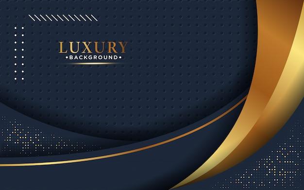 Abstracte 3d-achtergrond met een combinatie van lichtgevende gouden stippen in 3d-stijl.