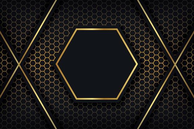Abstracte 3d-achtergrond met een combinatie van lichtgevende polygonen in 3d-stijl.