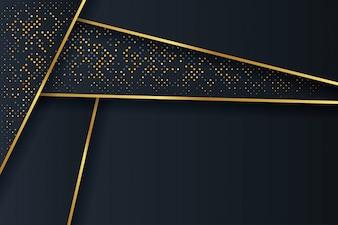 Abstracte 3D-achtergrond met een combinatie van lichtgevende stippen in 3D-stijl.
