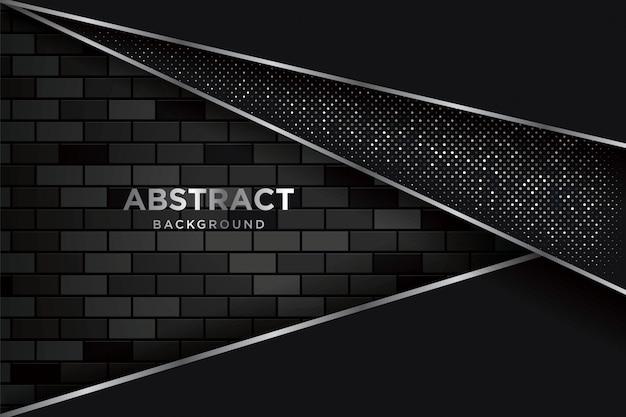 Abstracte 3d-achtergrond met realistische donkere brickwalls