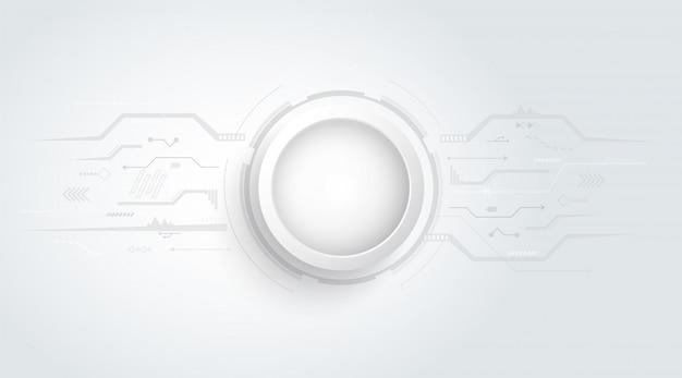 Abstracte 3d-achtergrond met technologie stip en lijn printplaat textuur.
