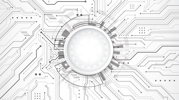 Abstracte 3d achtergrond met technologie stip en lijn printplaat