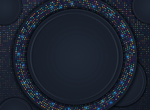 Abstracte 3d achtergrond met zwarte document lagen. vector geometrische illustratie