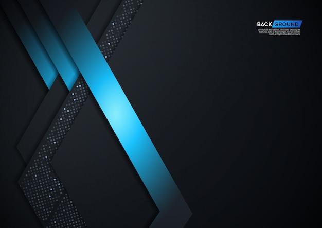 Abstracte 3d achtergrond met zwarte document lagen