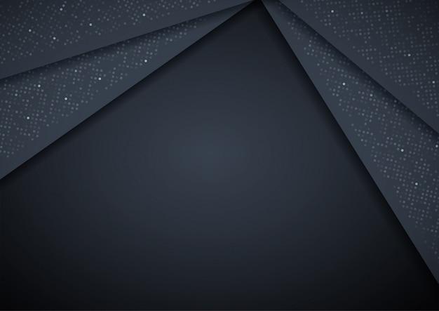 Abstracte 3d achtergrond met zwarte papieren lagen