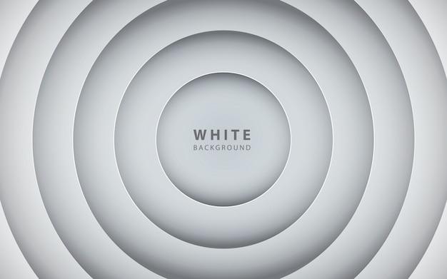 Abstracte 3d cirkel papercut laag witte achtergrond