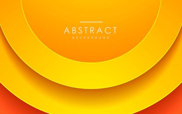 Abstracte 3d cirkel papercut oranje achtergrond
