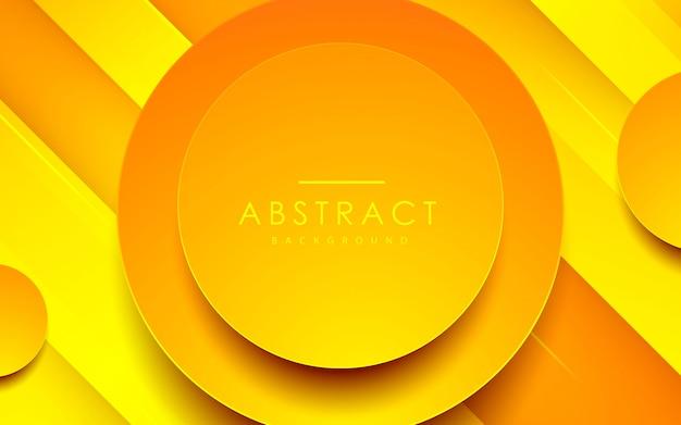 Abstracte 3d-cirkelachtergrond