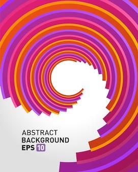 Abstracte 3d cirkellijnen op perspectief moderne vectorachtergrond.