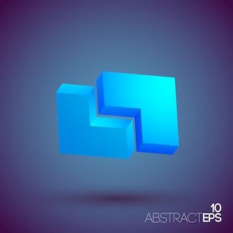 Abstracte 3d geometrische vormen instellen