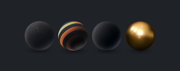 Abstracte 3d geplaatste bollen