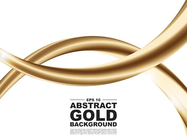 Abstracte 3d gouden vloeibare ontwerpillustratie