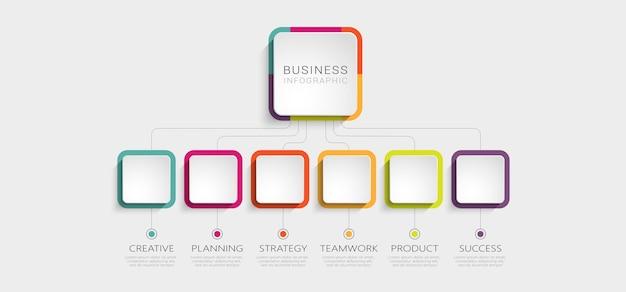 Abstracte 3d-infographic sjabloon met opties voor brochure