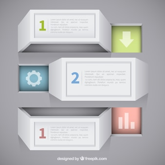 Abstracte 3d infographic