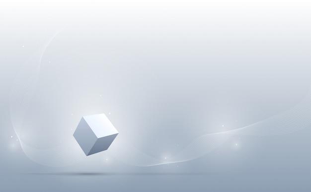 Abstracte 3d kubussenachtergrond. wetenschap en technologie achtergrond. abstracte achtergrond. .