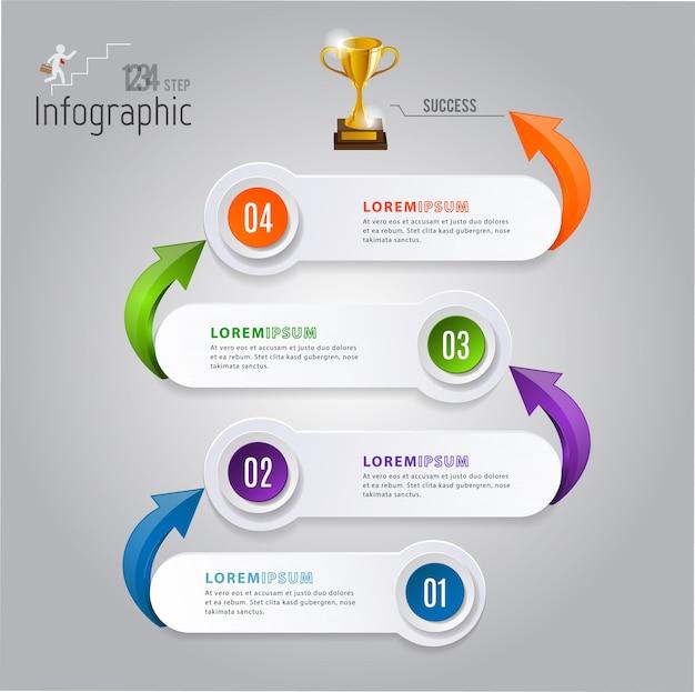 Abstracte 3d moderne infographics