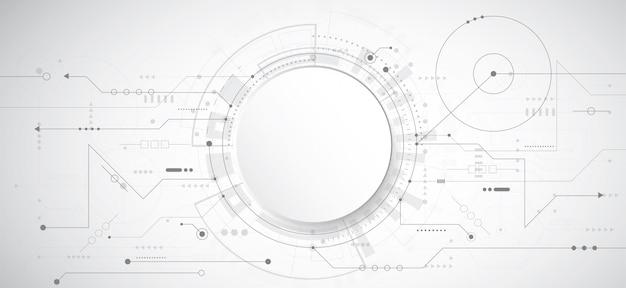 Abstracte 3d ontwerpachtergrond met technologiepunt en lijn