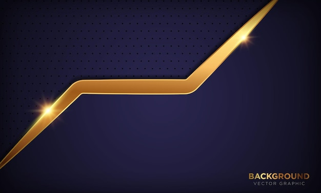 Abstracte 3d paarse luxe achtergrond met gouden glanzende lijn effect