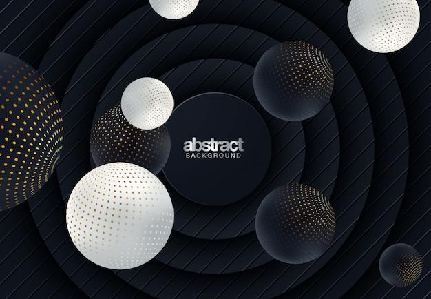 Abstracte 3d-papierafbeeldingen