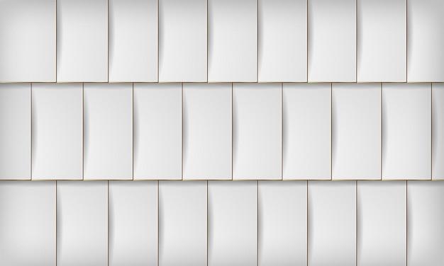 Abstracte 3d vierkante papercut laag witte achtergrond met elegante gouden lijn