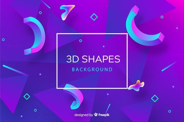 Abstracte 3d vormen achtergrond