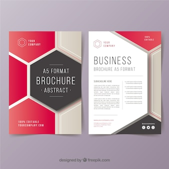 Abstracte a5 zakelijke brochure sjabloon