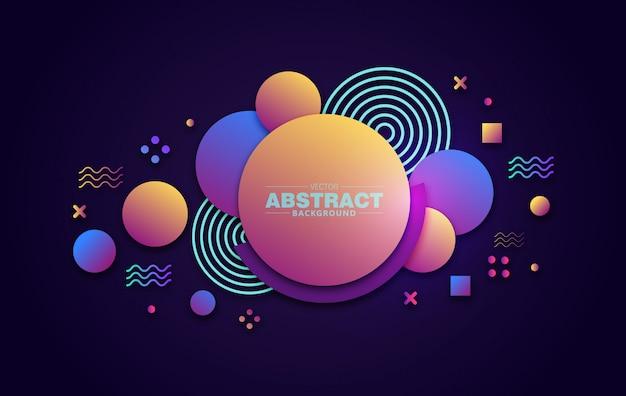 Abstracte achtergrond 3d cirkel gradiant kleur