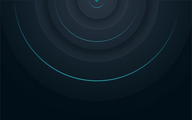 Abstracte achtergrond donkerblauw met moderne bedrijfsconcept vector blauwe minimale achtergrond illustr